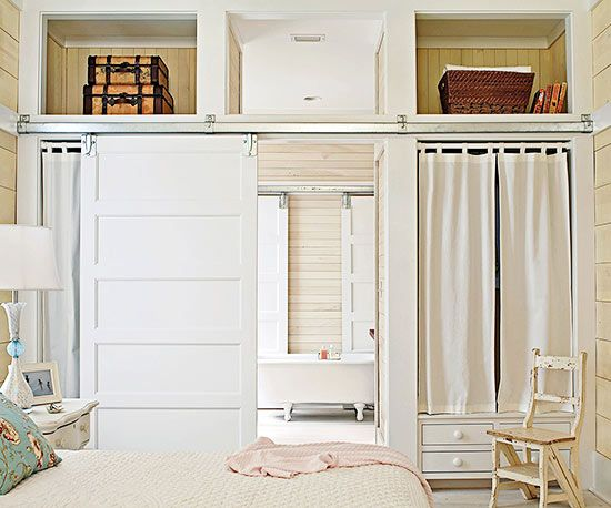 How to remodel to add storage closet doors barn doors for Bedroom closet barn doors