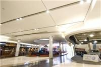 Galleria Mall really creative bulkhead and flush plastered ceiling designs
