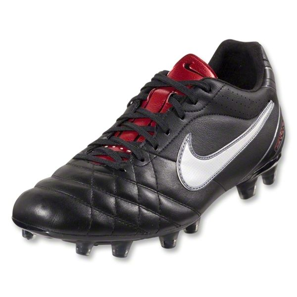 Nike Tiempo Flight FG (Black/White/Metallic Gray/Red)
