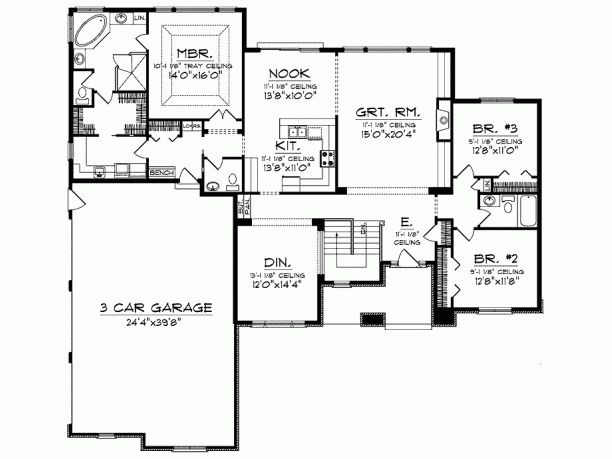 52 best house plans images on pinterest home plans home for Ranch floor plans with mudroom