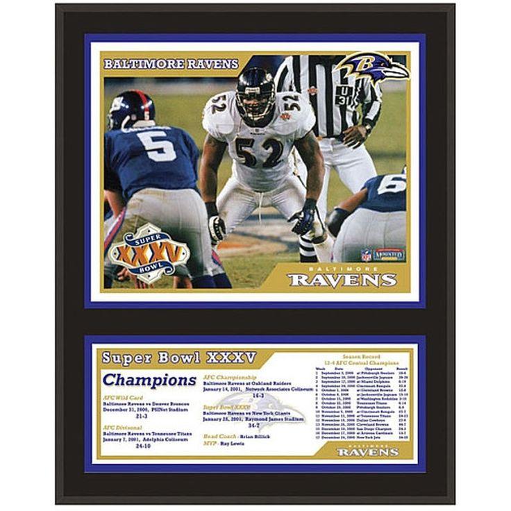 """Baltimore Ravens Fanatics Authentic 12"""" x 15"""" Super Bowl XXXV Sublimated Plaque"""