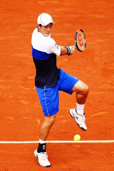 Day 1 French Open 2015 - Kei Nishikori dispatched French wildcard Paul-Henri Mathieu 6-3, 7-5, 6-1.