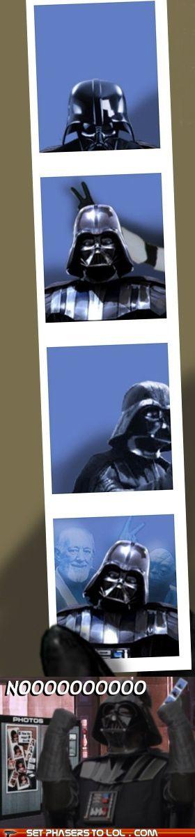 Darth Vader photo booth bomb. #StarWars: Photos, Geek, Darth Vader, Photobooth, Star Wars, Funny, Photo Booths, Starwars