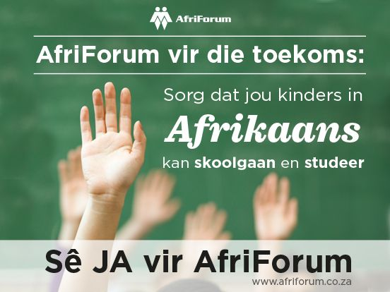 Say yes to AfriForum