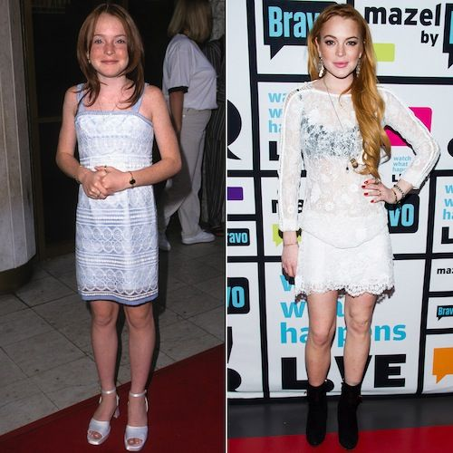 Lindsay Lohan - Then: Lindsay Lohan got her big break in The Parent Trap, the first movie she was ever cast in and continued to have a successful career as a teen.    Now: These days, Lindsay's focus seems to be staying out of trouble. She also wrapped a reality series and has a much-anticipated project, Inconceivable, in the works. (2014)