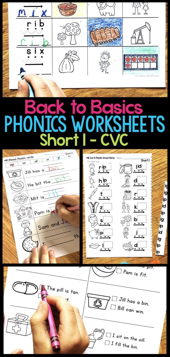 Short I Phonics Worksheets Short I Cvc Words Phonics Worksheets Phonics Cvc Words [ 1428 x 680 Pixel ]