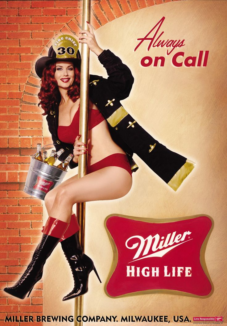 Always On Call. Miller High Life Poster Series. Come and see our new website at bakedcomfortfood.com!