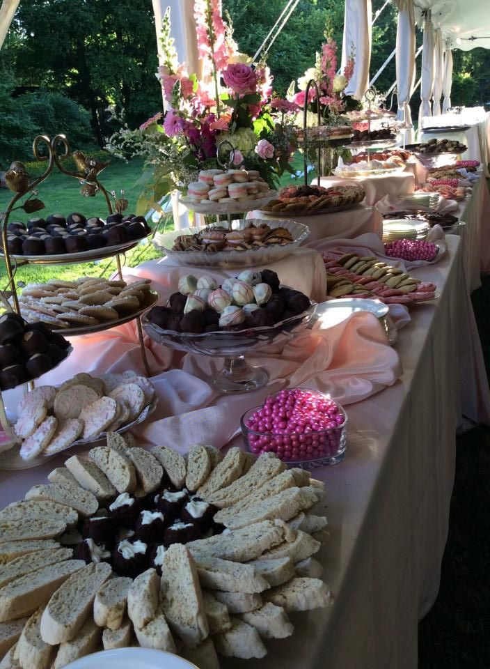 pittsburgh wedding cookie table catered by ranias catering frick art historical center