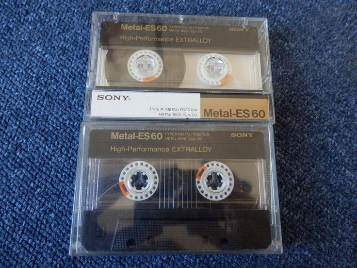 2x Sony Metal-ES 60. Typ IV Reineisen Metall. Guter Zustand!