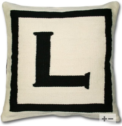"""L"" JA letter pillow"