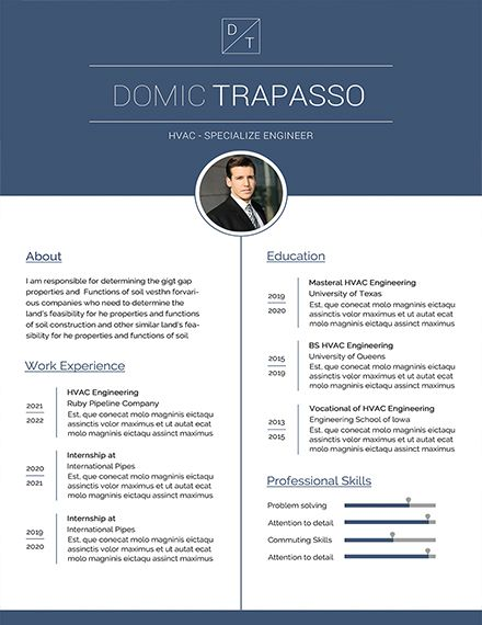 Free HVAC Engineer Resume CV for start Resume templates, Resume