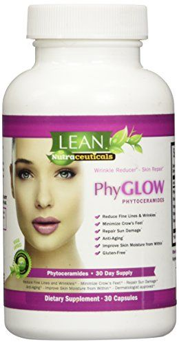 Top Rated Phytoceramides 350mg Capsules on Amazon  PhyGLOWTM GlutenFree All Natural Plant Derived Skin Restoring Wrinkle Reducing Dermatologist Recommended Supplement from LEAN Nutraceuticals THE Results or Refund Brand AntiAging Skin Renewal for Women and Men  Full Month Supply of Potent Skin Nourishing Ceramides -- To view further for this item, visit the image link.