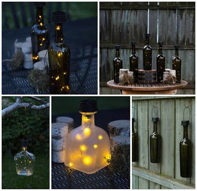 17 best images about diy on pinterest candlesticks for Diy solar wine bottle lights