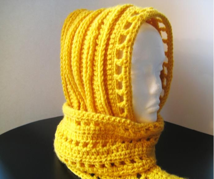 Crochet Dreamz Aesthetic Hooded Scarf Free Crochet