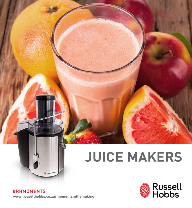 Keep your family healthy and happy as the seasons change by creating unforgettable #RHMoments and juices with a Russell Hobbs Juice Maker.