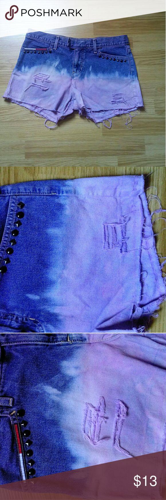 Tommy Hilfiger shorts Tommy Hilfiger tie dye ripped studded jean juniors shorts Tommy Hilfiger Shorts