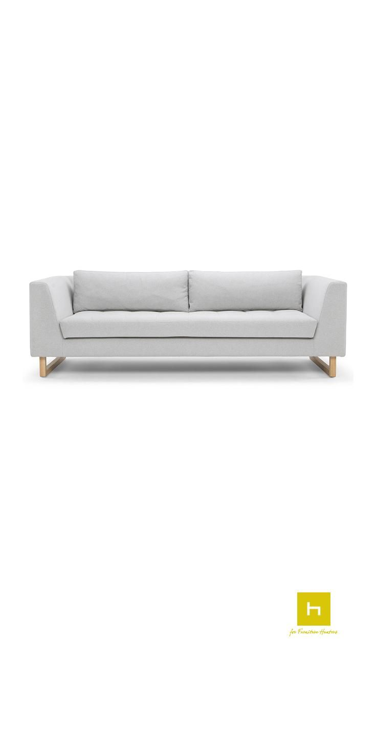 The Emilio 3 Seater Sofa from Scandinavian Design has a beautiful, elegant design sitting on stunning wooden feet.  The Scandinavian Design movement is defined by simplicity, minimalism and functionality. Sharing its origin with the modernist movement it focuses on beautiful and functional everyday objects. #sofa #furniture #design #furnituredesign #interiordesign