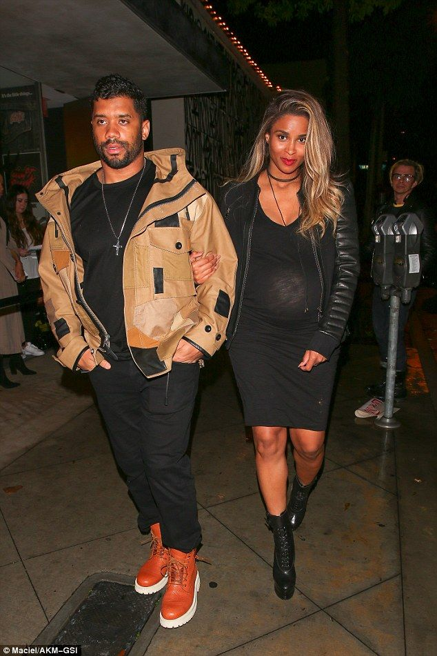 Ciara in mini dress while out with Russell Wilson in West Hollywood #dailymail