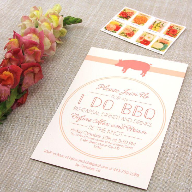creative wording for rehearsal dinner invitations%0A I Do Barbecue Rehearsal Dinner Invitation