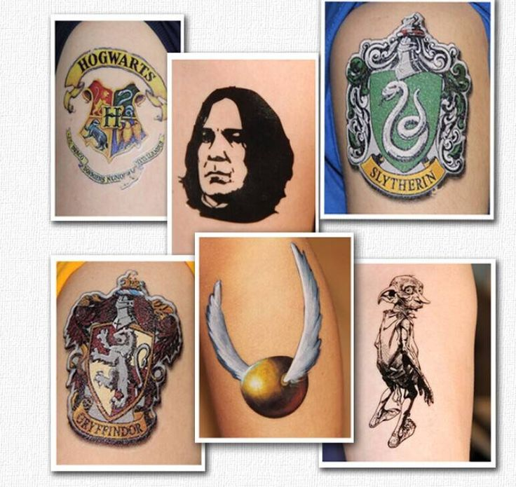Harry Potter Style Colorful Waterproof Temporary Tattoo