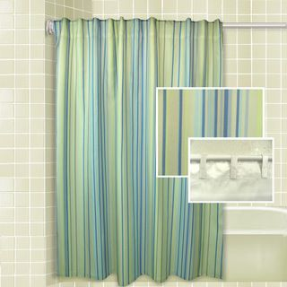 Rhythm Stripe Shower Curtain Set - Overstock™ Shopping - Great Deals on Ricardo Shower Curtains
