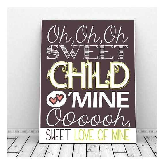 Sweet Child O' Mine Guns N' Roses Nursery by DigitalDecobyKendra