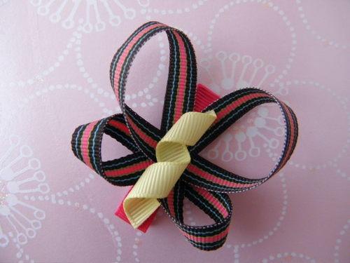 Stripes Butterfly Hair Clip