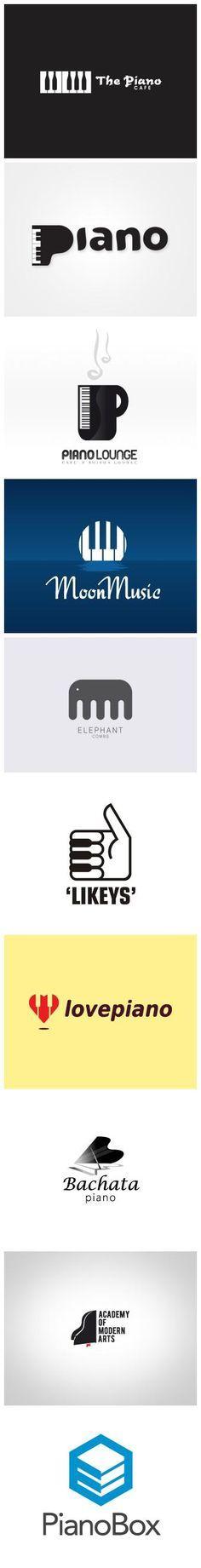 Creative Piano Logos For Inspiration