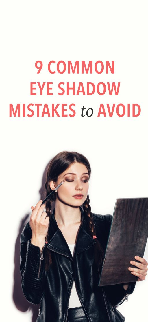 9 eyeshadow mistakes to avoid #beauty