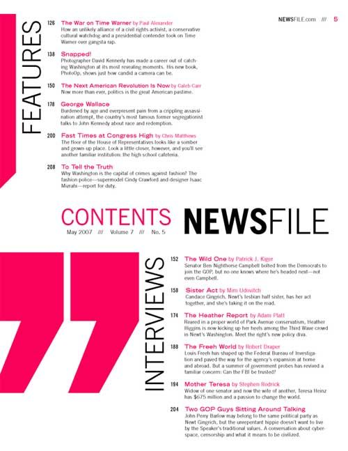 Table Of Contents Example For School Graphic Design