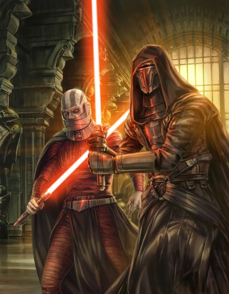 Darth Malak and Darth Revan by Chris Trevas