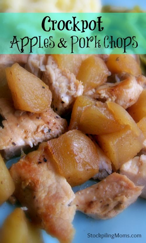 Crockpot Apples and Porkchops (you have to brown the chops before placing them on apples coated with sugar, cinnamon and nutmeg)