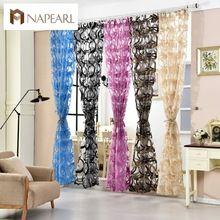 Organza moderna cortinas cortinas de tul transparente pura panelpurple cortinas para la sala de diseño sin fin(China (Mainland))