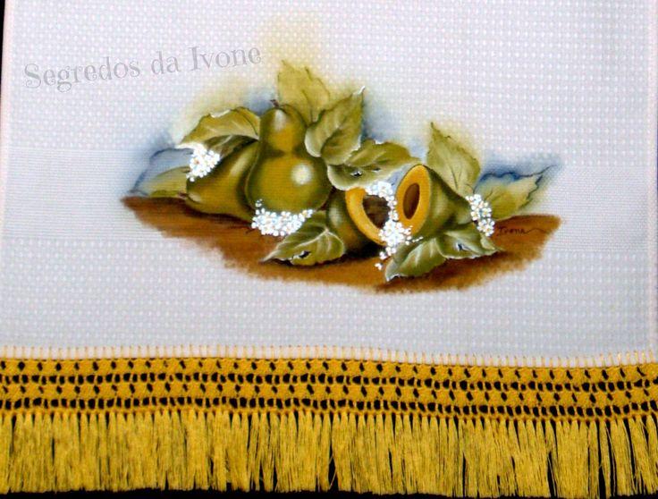 PC27- Pintura e crochet em pano de copa