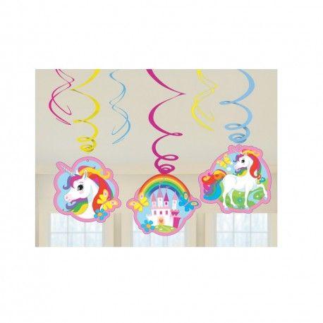 Een geweldige versiering is de hangedecoratie Eenhoorn regenboog. Kijk voor eenhoorn feestartikelen en traktaties op Tuf-Tuf.nl,direct uit voorraad leverbaar.