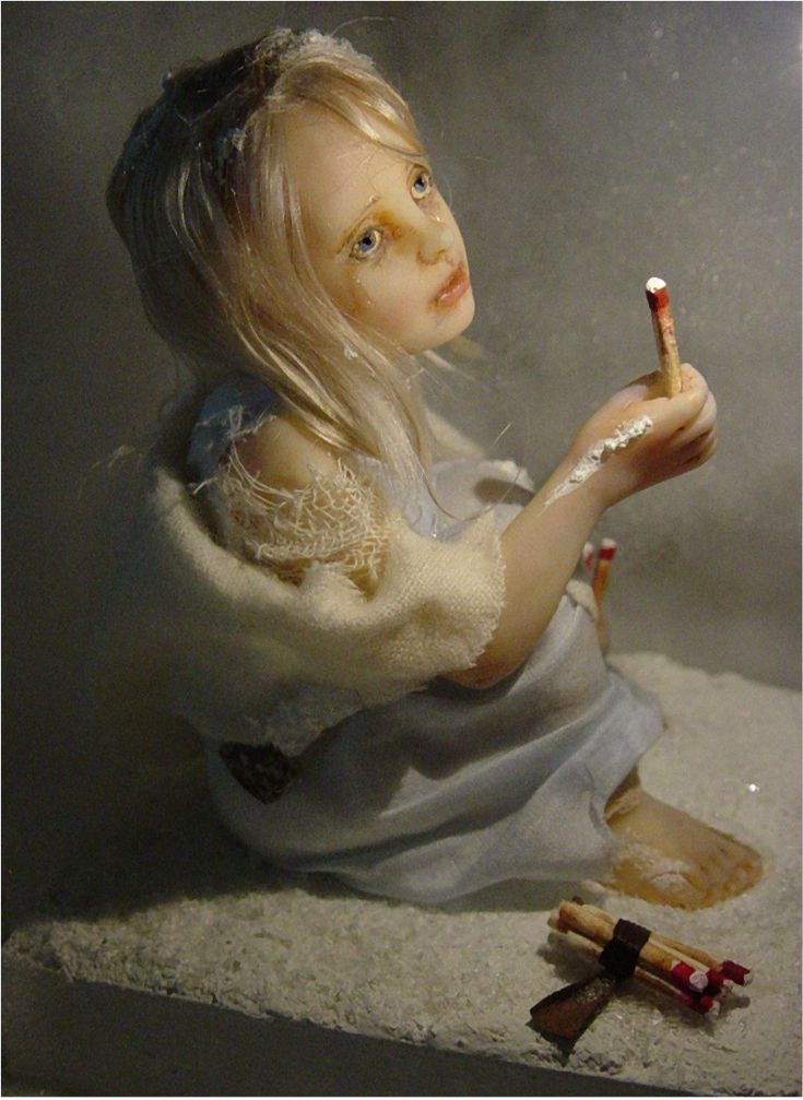The Little Match Girl.  Created by, JoAnna Waggoner Thomas.  Beautiful.