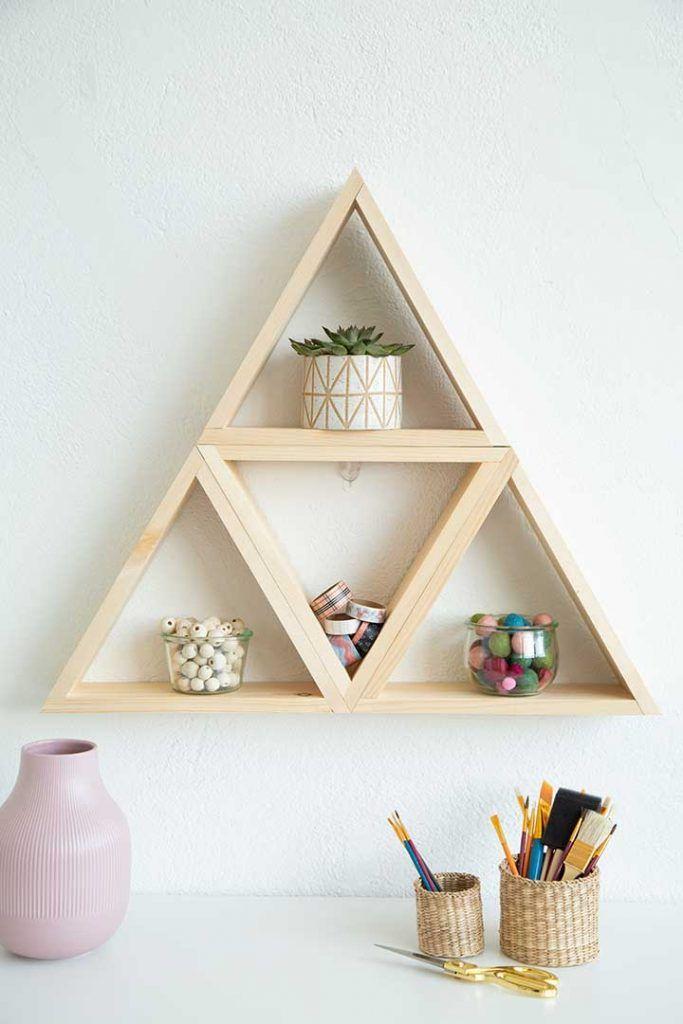 Diy Multi Triangle Wood Shelf Mit Bildern Diy Mobel Selber Bauen Schrank Selber Bauen Regal Selber Bauen