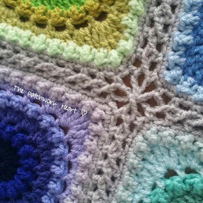 The Patchwork Heart: Continuous Flat Braid Join ~ a tutorial in UK terms