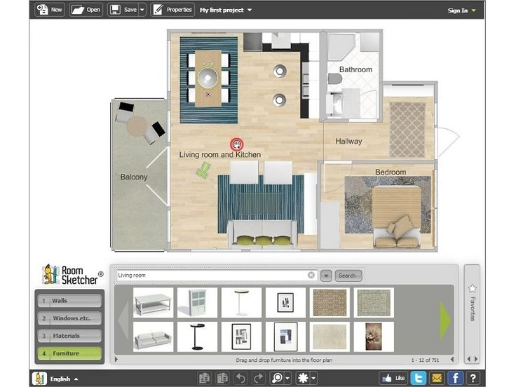 17 best ideas about 3d interior design software on for Room furniture layout software