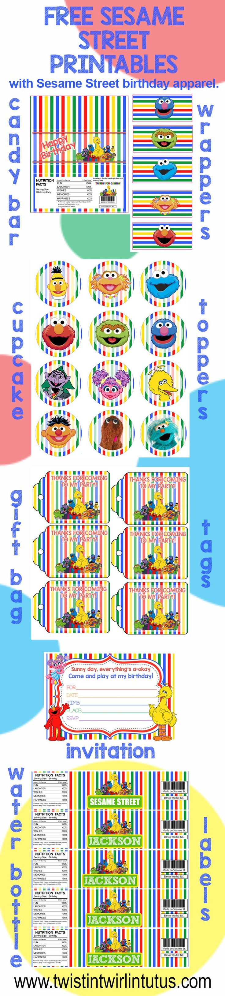 Free Sesame Street Birthday Party Printables - Sesame Street Water