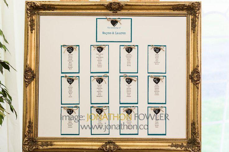 Glencorse House wedding photos - Lauren and Wayne - table plan