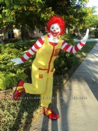 Fun Homemade Ronald McDonald costume. Ba da ba ba ba...I'm loving it