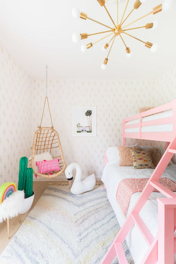 Pretty Bedroom Wallpaper 17 Best Images About Kids Bedroom On Pinterest Geometric