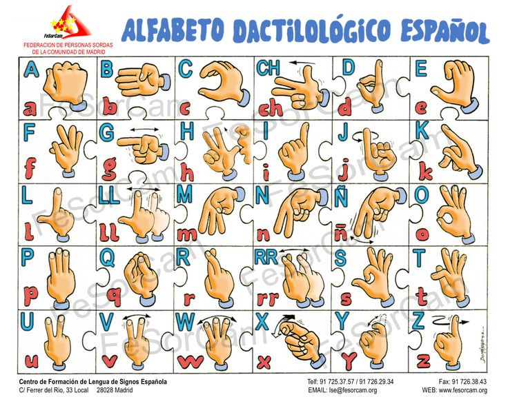 Spanish Sign Language Alphabet