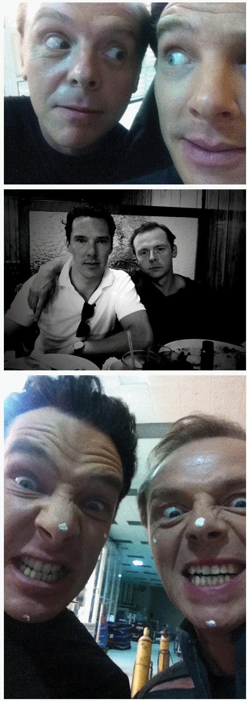 Benedict Cumberbatch & Simon Pegg