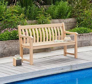 Alexander Rose Roble St George 5ft Bench With Free Brass Plaque Link: Http:/
