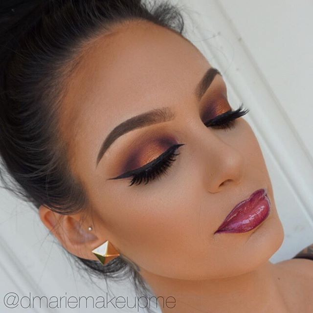 Beautiful @dmariemakeupme ・・・ Makeup Details Eyes: @juviasplace Nubian 2 Palette