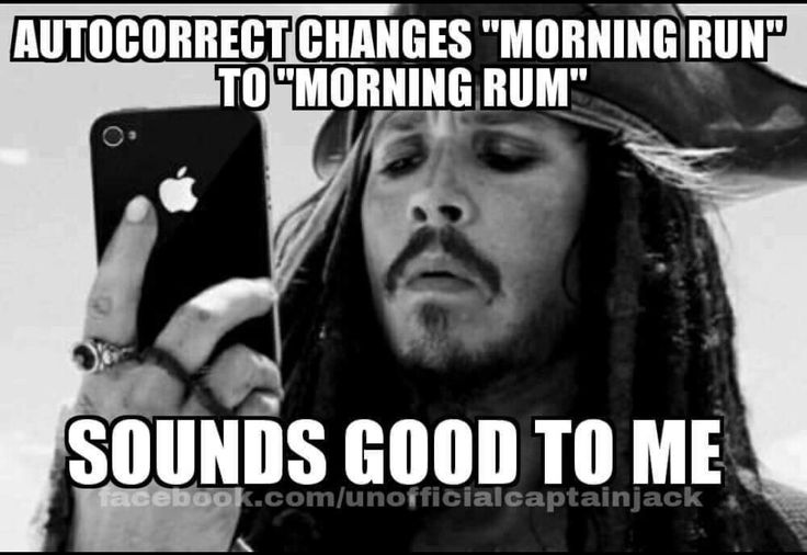 Morning run morning rum... thanks autocorrect