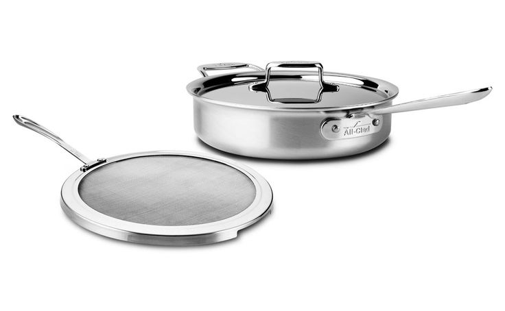 Shop for All-Clad d5 Brushed Stainless 3 to 4-qt. Saute Pans at cutleryandmore.com. We are your source for All-Clad d5 Brushed Stainless including this All-Clad d5 Brushed Stainless Deep Saute Pan with Splatter Screen. We carry only high quality cookware kitchen knives small appliances kitchen tools and coffee makers.