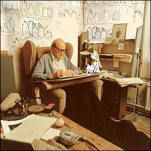 Roald Dahl's writing space, located in his very own writing shed.